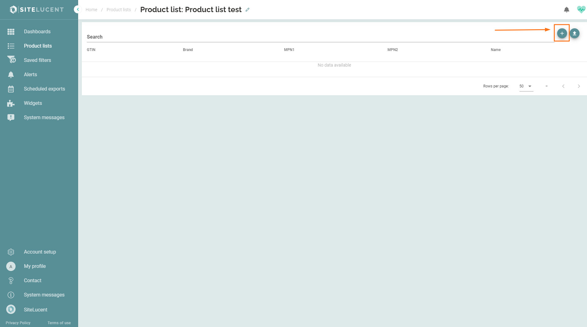 Create your product list