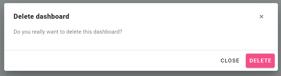 delete dashboard sitelucent