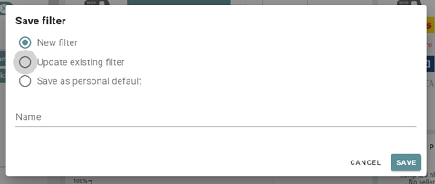 update filters sitelucent
