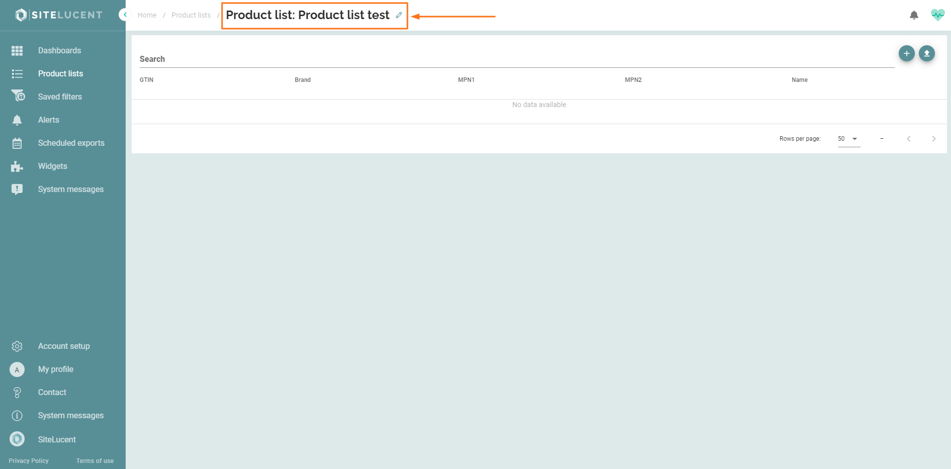 Adjust name product list