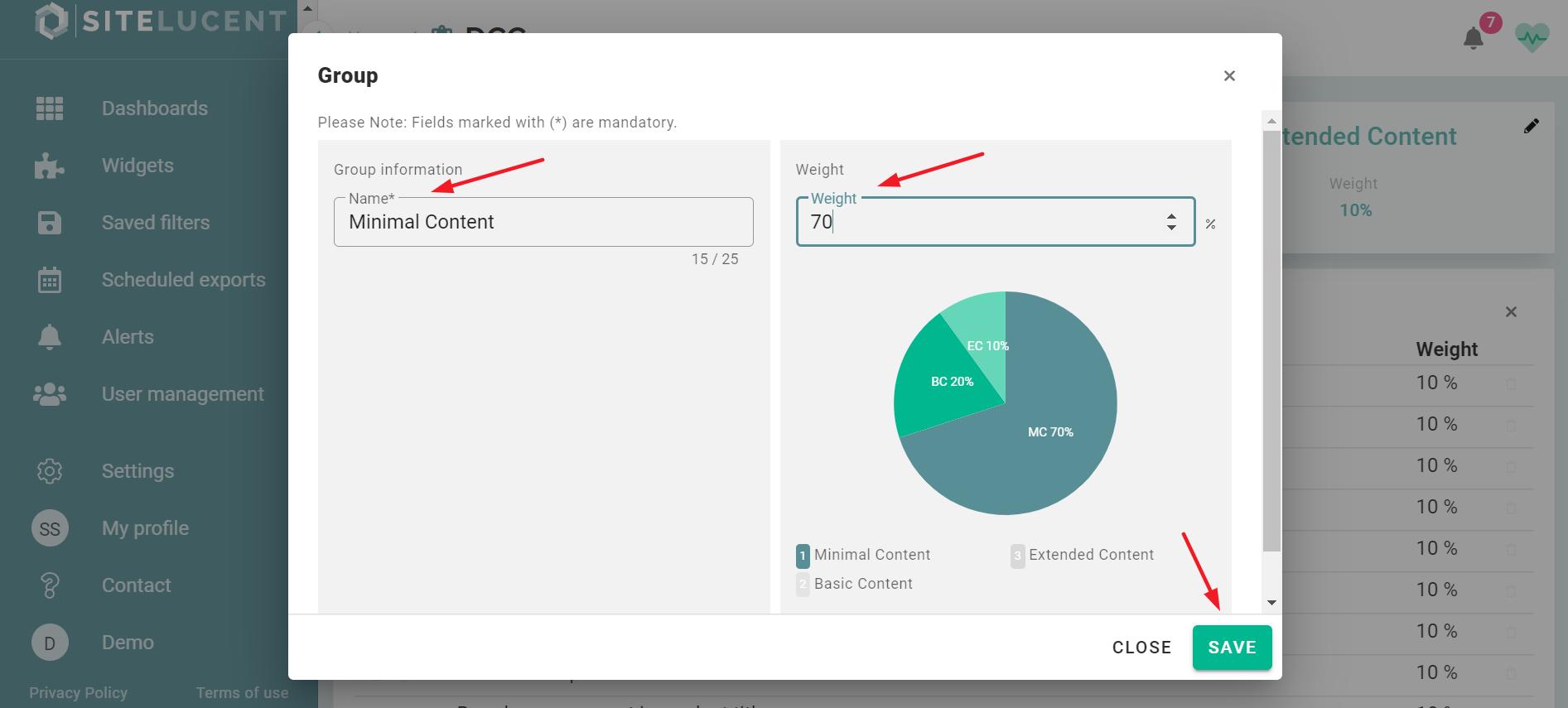 custom kpi product content